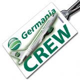 Germania A319 crew tag